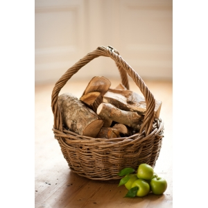 Log / Apple / Fruit Wicker Basket